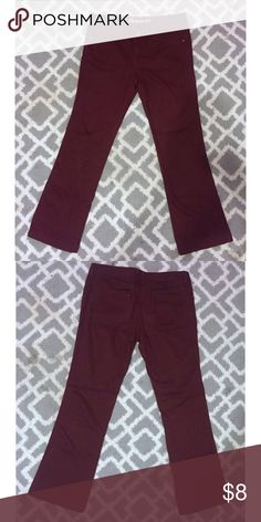 SALE Maroon / Burgundy Pants These were worn once and are now too big on me. They are perfect for winter time! ❄️ Forever 21 Pants Wide Leg
