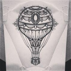 """@m1ss_juliet's photo: """"#airballoon #tattoo #primordialpain"""""""