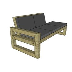 Modern Outdoor Chair (Free Plan) Creating Do It Yourself Projects Grab this free set of plans to build your own 4 by 4 chair. For more info on this build check out the video Modern Outdoor Sofas, Diy Outdoor Furniture, Modern Chairs, Concrete Bowl, Concrete Lamp, Resin Table Top, Concrete Crafts, Diy Sofa, Woodworking Projects Diy
