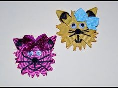 HOOT OWL Ribbon Sculpture Valentine Zoo Animal Hair Clip Bow DIY Free Tutorial by Lacey - YouTube