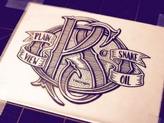 Jason Carne Typography, woodcut style pen & ink
