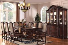 Brown Cherry Dining Room Set
