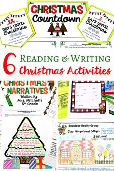 6 Reading and Writing Christmas Activities for your Middle School classroom! These activities are the perfect way to get you through this Christmas season without a hassle. These print-and-go resources will keep your students engaged all while having fun. The perfect activities for your middle school ELA classroom :)