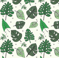 Tropical Leaves Fabric - Petite Jungle Cross - By Elvelyckan- Jungle Greenery Palm Monstera Trees Cotton Fabric By The Metre by Spoonflower Double Gauze Fabric, Cotton Twill Fabric, Fleece Fabric, Satin Fabric, Custom Fabric, Cotton Canvas, Tropical Leaves, Spoonflower, Plant Leaves