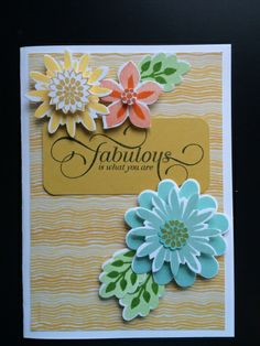 Stampin' Up! Flower Patch, Flower Fair framelits, photopolymer