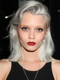Abbey-Lee-Kershaw-2 Love this silver haied look for light blonde Summers www.sheikemeup.com.au Colour/imageprofessionals