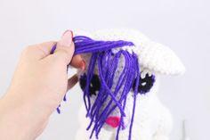 Anime Fox Amigurumi - Free Crochet Pattern - StringyDingDing Crochet Dinosaur Pattern Free, Free Crochet, Free Pattern, Crochet Patterns, Free Anime, Fox, Hair Styles, How To Make, Amigurumi