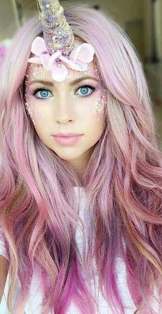 Unicorn pink hair