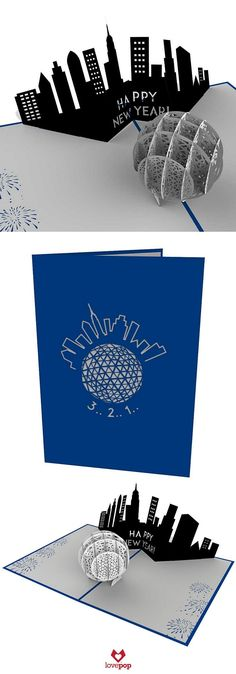 Ring in the New Year with friends and family and send this New Years Ball Drop pop up card to those who can't be with you. Happy 2016! #TimesSquare