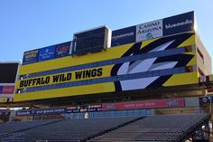 ENORMOUS graphics we printed for the Buffalo Wild Wings bowl last year. www.olympusgrp.com
