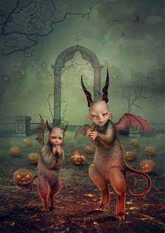 # Evil Spirits Halloween Fantasy Portraits by Vasylina Holodilina Halloween Prints, Halloween Art, Spirit Halloween, Halloween Queen, Halloween Pictures, Dark Fantasy, Fantasy Art, Steampunk, Creepy Horror