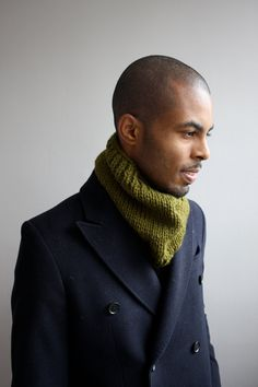 Mens scarf knit cowl for men by SimpleSmiles on Etsy