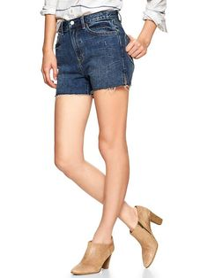 1969 raw-edge high-rise denim shorts | Gap these. these are what i need.