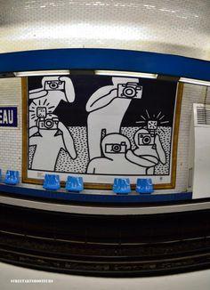 KEITH HARING a la station ALMA-MARCEAU
