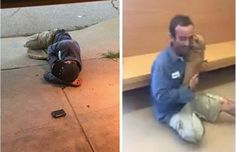 This past Friday, a kennel technician at Atlanta's DeKalb County Animal Services spotted a man huddled up asleep on the sidewalk in front of one of the rescue's two shelters. Upon speaking with him, the employee learned that the man was …