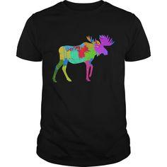 Get yours nice Splatter Painted Moose Best Gift Shirts & Hoodies.  #gift, #idea, #photo, #image, #hoodie, #shirt, #christmas