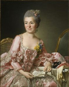Madame de Pompadour (The artist Marie Suzanne Giroust by Alexander...)