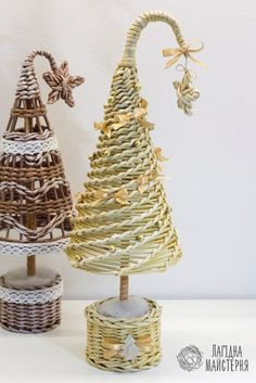 ТОВАРЫ ДЛЯ ТВОРЧЕСТВА**ПОДАРКИ РУЧНОЙ РАБОТЫ Christmas Paper Crafts, Christmas Decorations, Christmas Ornaments, Willow Weaving, Basket Weaving, Diy Crafts For Adults, Diy And Crafts, Paper Beads Tutorial, Corn Dolly