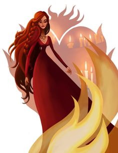 Melisandre of Asshai (The Red Woman/Fire Priestess) from GAME OF THRONES (Song of Ice and Fire) by Leann Hill