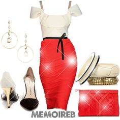A fashion look from February 2014 featuring Roland Mouret dresses, Chinese Laundry pumps and Yves Saint Laurent clutches. Browse and shop related looks.
