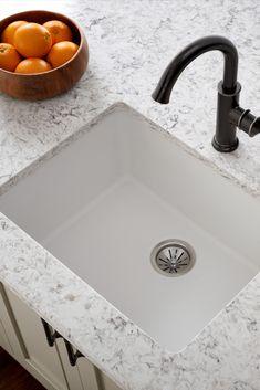 Kitchen Redo, Kitchen Remodel, Kitchen Sinks, Kitchen Ideas, Kitchen Cabinets, Quartz Sink, Kitchen Design Gallery, Kitchen Cabinet Organization, Dining Room Design