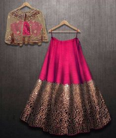 Excited to share this item from my shop: VeroniQ Trends- Designer Lehnga Choli in foil mirror work with A koti or jacket in Royal Majenta Color-Engagement,partywear Indian Gowns Dresses, Indian Fashion Dresses, Dress Indian Style, Indian Designer Outfits, Designer Clothing, Indian Wedding Dresses, Pakistani Clothing, Abaya Style, Designer Lehnga Choli