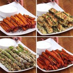 Veggie Fries 4 Ways
