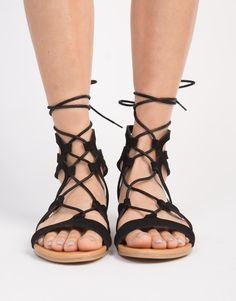 24bdc8c35957 Strappy Lace-Up Sandals. Lace Up SandalsBlack SandalsLeather MaterialCrossbody  BagRompersComfyBlack ...