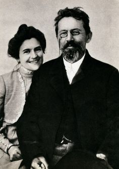 Anton Chekhov and his wife, Olga.