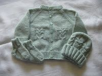 Size:  newborn  Materials:  Soft Sport Weight yarn  Size 3 needles:  one set of 24 inch cables  2 sets of 16 inch cables or one set of #3 s...