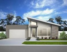 Image result for skillion roof house facades