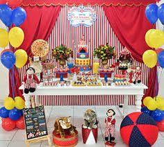 Resultado de imagem para festa tema circo menino Carnival Birthday Cakes, Carnival Party Foods, Circus First Birthday, Circus 1st Birthdays, Carousel Birthday Parties, Circus Carnival Party, Circus Theme Party, Monster High Birthday, Carnival Themes