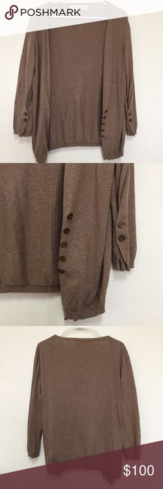 MARNI tan cotton cardigan sweater sz 42 In excellent condition. Size 42 (US size 6). Made in Italy.No flaws whatsoever. Retails $1,250. Marni Sweaters Cardigans