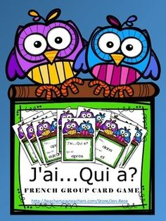 Fantastic whole or small group card game!! Includes 63 high frequency french words...amazing!