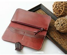 Vegetable tanning leather wallet literary by MagicLeatherStudio