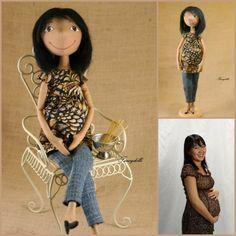 Handmade Personalized Portrait cloth doll - custom order. $200.00, via Etsy. #OOAK, #artdoll