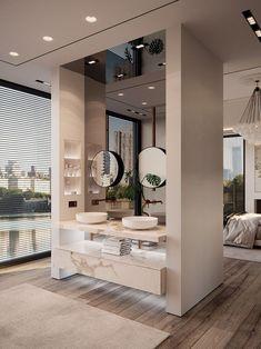 bathroom and bedrom interior // modern interior designs