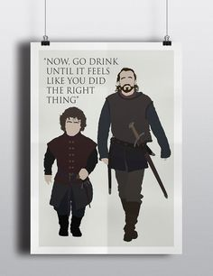 Bronn & Tyrion Game of Thrones Minimalist Poster by Posteritty #gameofthrones #bronn #tyrion