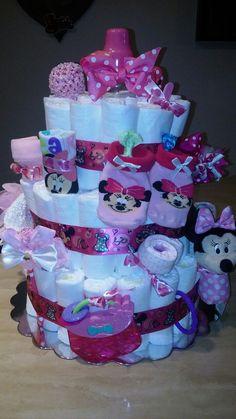 Minnie Diaper Cake