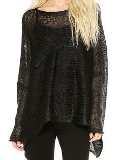 Women' Casual Round Neck Long Sleeve Knit  Pullover Pullover from fashionmia.com