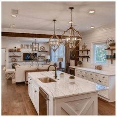 Bewitching Small kitchen renovation before and after ideas,Kitchen design layout ideas l-shaped tricks and Kitchen remodel grand island ne tricks. Living Room Kitchen, Home Decor Kitchen, New Kitchen, Fireplace In Kitchen, Awesome Kitchen, Kitchen Cabinet Decorations, Shiplap In Kitchen, Kitchen Interior, Open Galley Kitchen