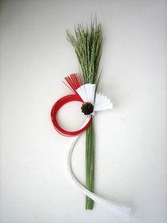 稲穂と水引の組み合わせで新年を迎えます50x15cm|ハンドメイド、手作り、手仕事品の通販・販売・購入ならCreema。