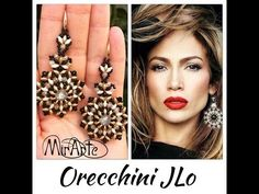 DIY Tutoria orecchini JLo (Jennifer Lopez) - YouTube