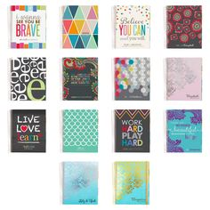 2014-2015 Erin Condren Life Planner NEW COVERS - I'm loving all the quote designs. Also love that a platinum edition is coming!
