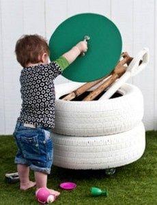 Outdoor toy storage kids