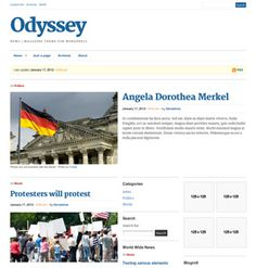 Odyssey News / Magazine theme for WordPress Wordpress Theme, Magazine, News, Beautiful, Magazines, Warehouse, Newspaper