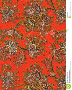 Vintage Paisley Fabric Detail Stock Photos - Image: 9695683