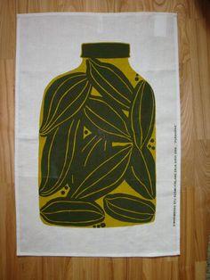 New Marimekko Purnukka Fabric Tea Towel Scandinavian Desingn by Erja Hirvi   eBay