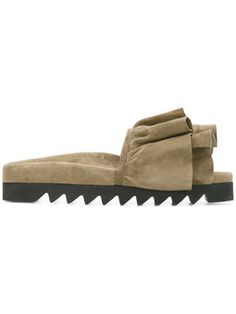 bow slider sandals