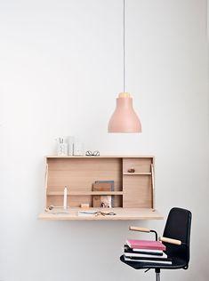 Minimal office I like this lamp